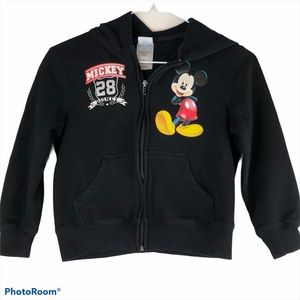 Disney Mickey Mouse Hoodie Black Zip Up
